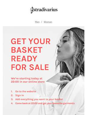 Get your basket ready for SALE