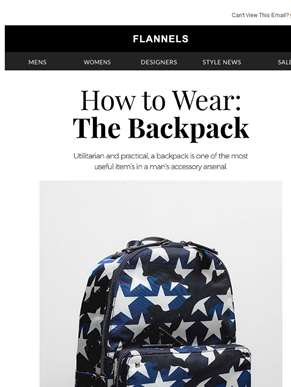 How To Wear The Backpack…