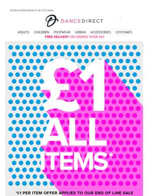 End of Line Sale | All End of Line Items £1 at CYD? Leeds...