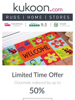 Hurry! 50% OFF Doormats - While Stocks Last