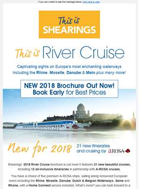 Our NEW 2018 River Cruises | Book Early for the Best Prices! ?