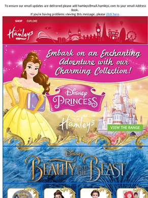 Explore the enchanting world of Disney Princesses at Hamleys!