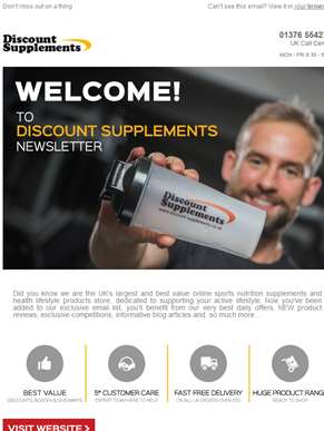 Welcome to Discount Supplements