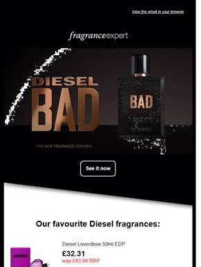 Diesel perfume offers for summer