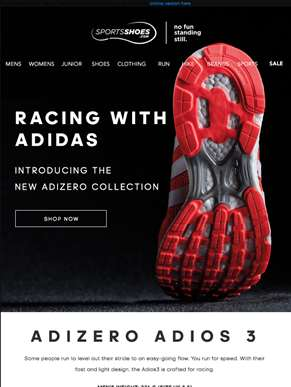 Racing With Adidas... Meet The New Adizero Collection