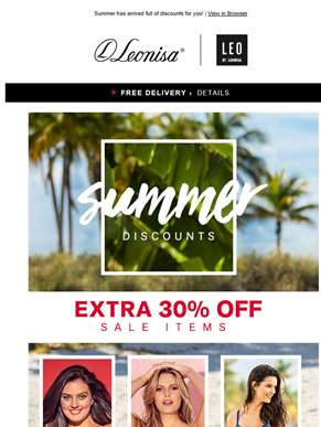 Don´t miss this great Sale! Extra 30% OFF