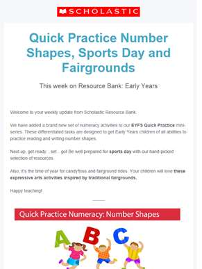 Download your brand new Early Years maths pack!