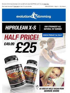 Hiprolean X-S Fat Burner ?? now just £25 until Friday