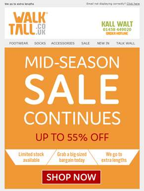The mid-season sale continues - Don't miss out!