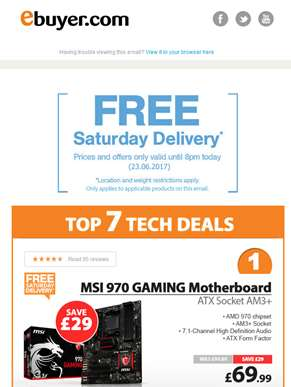 Hi  - MSI 970 GAMING Motherboard - Now Under £70