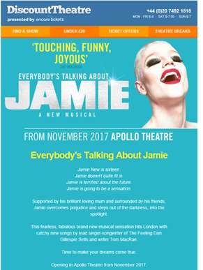 Everybody's Talking About Jamie on sale now