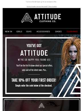 Welcome to Attitude Clothing