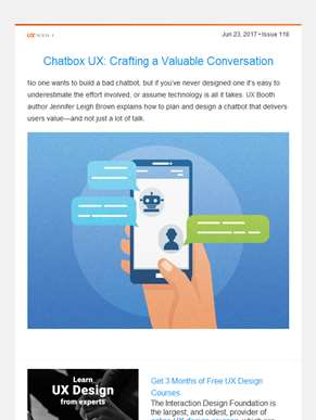 ??  UX Booth Weekly: Crafting a Valuable Chatbot Conversation