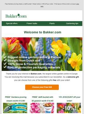 Welcome to Bakker.com | Choose your free gift