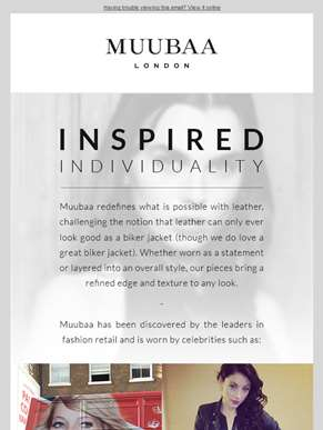Inspired Individuality For All at Muubaa