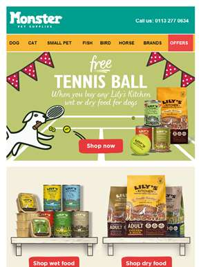 ?? ?? FREE tennis ball with Lily's Kitchen dog food