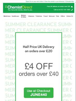 Hey , you can still save £4 on your order!