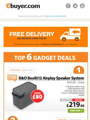 Save £80 on B&O Beolit12 Airplay Speaker System