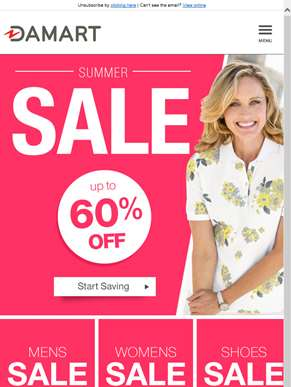 Up to 60% off in our summer sale!