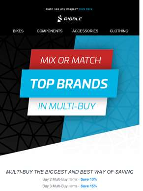 MIX OR MATCH - MULTI BUY IS HERE