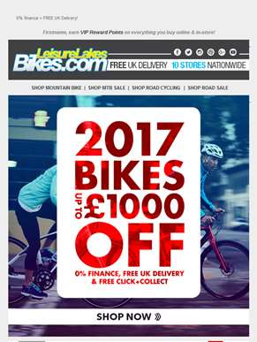 2017 BIKE SALE - Up to £1000 Off!