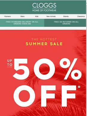 Summer sizzlers! Up to 50% off