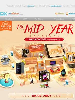 DX Mid-Year Carnival - 3 Big Bonuses are Waiting for You