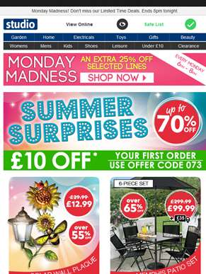 Up to 70% Off a Summer full of Surprises >>