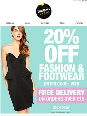 Get your 20% OFF with Free Delivery!