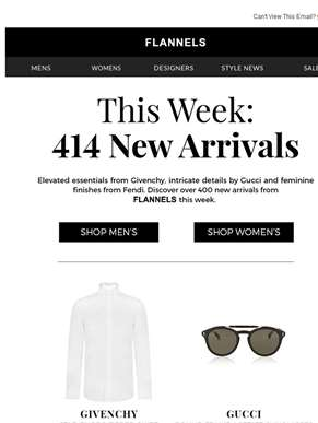 414 New Arrivals This Week!