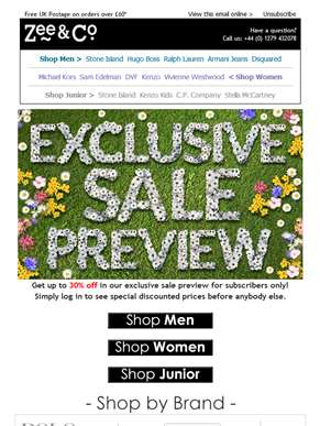 Your Early Sale Treat is Here... | Up to 30% Off Exclusive Sale Preview!