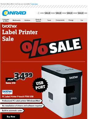 Brother Label Printers sharply reduced, Feedin!