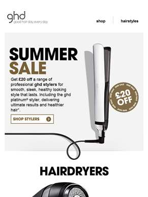 Happy Payday! Get £20 off in the ghd sale...