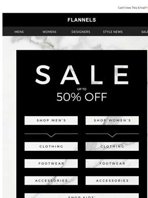 Up To 50% Off Sale Continues | Shop By Category