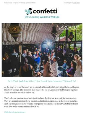 Acts That Redefine 'Live Event Entertainment' For Your Wedding - Book Now