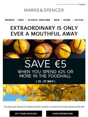 Save €5 in the Foodhall