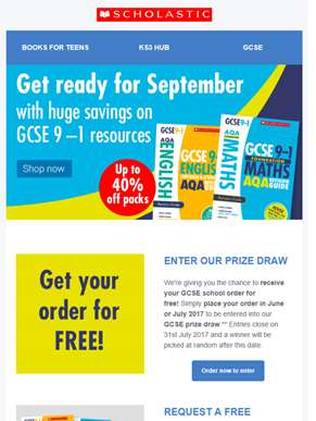 WIN your back to school GCSE order