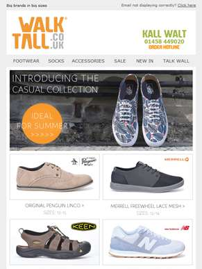 Check out our casual footwear styles for summer