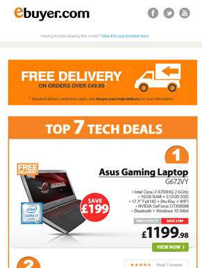 Hi  - Save £199 on Asus Core i7 Gaming Laptop