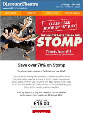 ? Flash Sale | Over 70% off Stomp - Book by Saturday