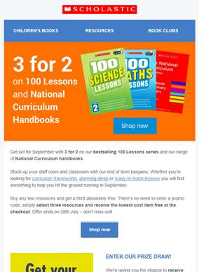 Get set for September with 3 for 2 on 100 Lessons!