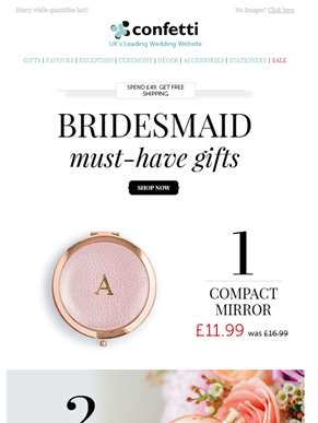 Up to 40% Off Bridesmaids Gifts