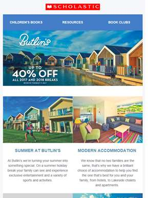 Get up to 40% off all Butlin's breaks!
