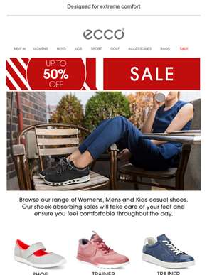 Give your feet a treat with ECCO shoes