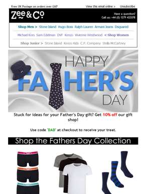 There's Still Time! | 10% Off of our Father's Day Shop!