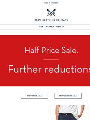 Sale just got bigger. Even further reductions.