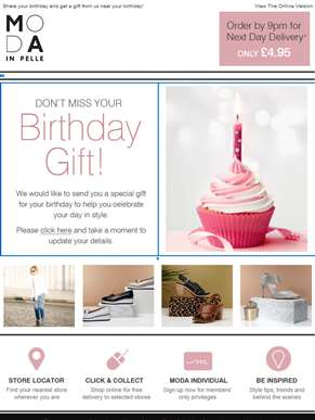 Don't miss your birthday gift from us!