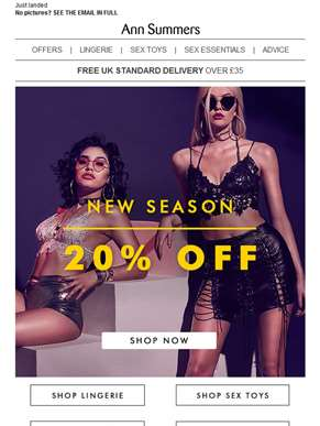 20% off all things NEW