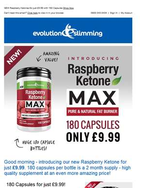 We've Launched Our New £9.99 Raspberry Ketone