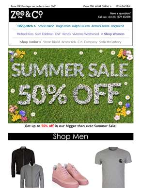 Up to 50% Off in Zee & Co's Huge Summer Sale!